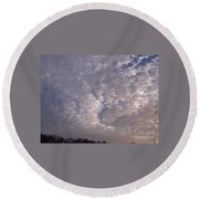 Fluff In The Sky Round Beach Towel