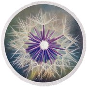 Fluffy Sun - 9bt2a Round Beach Towel by Variance Collections