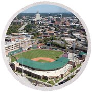 Fluor Field At The West End Greenville Round Beach Towel
