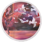 Fly Above Round Beach Towel