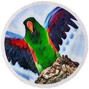 Fly And Shine Round Beach Towel