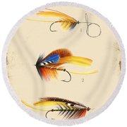 Fly Fishing-jp2094 Round Beach Towel
