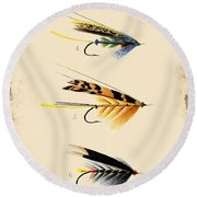 Fly Fishing-jp2095 Round Beach Towel