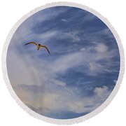 Fly To Your Tomorrow Round Beach Towel