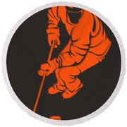 Flyers Shadow Player3 Round Beach Towel