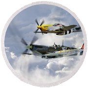 Flying Brothers Round Beach Towel