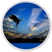 Flying Duck Round Beach Towel