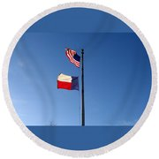 Flying Flags Round Beach Towel