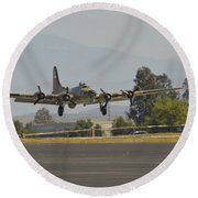 Flying Fortress Round Beach Towel