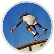 Flying High - Action Round Beach Towel