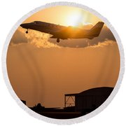 Flying Home Round Beach Towel