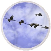 Flying In Formation Round Beach Towel