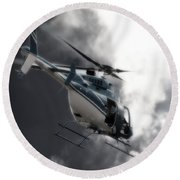 Flying Into The Light Round Beach Towel