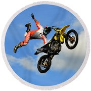 Flying One Round Beach Towel