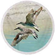 Flying Pipers Round Beach Towel