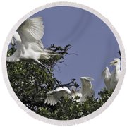 Flying The Coop Round Beach Towel