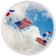 Flying The Flag Round Beach Towel