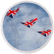 Flying The Union Jack Round Beach Towel