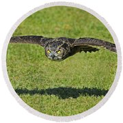 Flying Tiger... Round Beach Towel