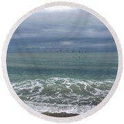 Flying Weather Round Beach Towel