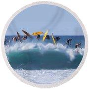Flynnstone Flip Round Beach Towel by Sean Davey