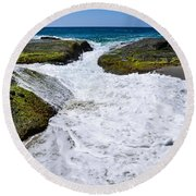 Foamy Water Round Beach Towel