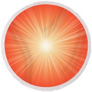 Focus For Meditation 2 Round Beach Towel by Philip Ralley
