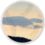 Fog Island Round Beach Towel