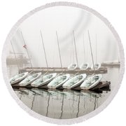 Fogged In Round Beach Towel