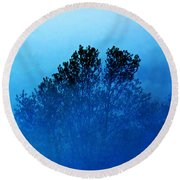 Fogged Out Round Beach Towel