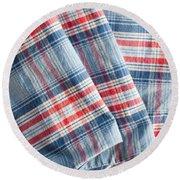 Folded Fabric Round Beach Towel