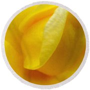 Folds Of A Rose - Digital Painting Effect Round Beach Towel