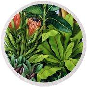 Foliage IIi Round Beach Towel by Catherine Abel