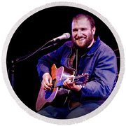 Folk Musician David Bazan In Concert Round Beach Towel