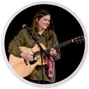 Folk Musician Denise Franke Round Beach Towel