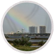 Follow That Rainbow Round Beach Towel