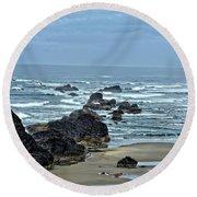 Follow The Ocean Waves Round Beach Towel
