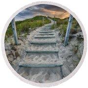 Follow The Path Round Beach Towel