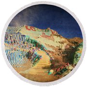 Follow The Yellow Brick Road Round Beach Towel