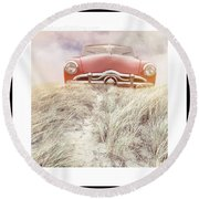 Follow Your Dreams Signed Mini Round Beach Towel