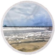 Folly Beach Round Beach Towel
