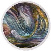 Fomorii Interior II Round Beach Towel