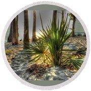 Fontainebleau Shore Round Beach Towel