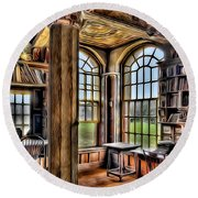 Fonthill Castle Office Round Beach Towel