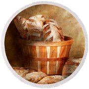 Food - Bread - Your Daily Bread Round Beach Towel by Mike Savad