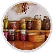 Food - I Love Preserving Things Round Beach Towel by Mike Savad
