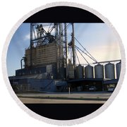 Food Mill Valley View Texas Round Beach Towel