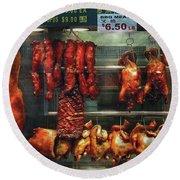 Food - Roast Meat For Sale Round Beach Towel