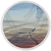 Foot In The Sky Round Beach Towel