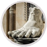 Foot Of Constantine Round Beach Towel